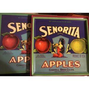 "Rosanna American SENORITA Apples ceramic 9.5"""